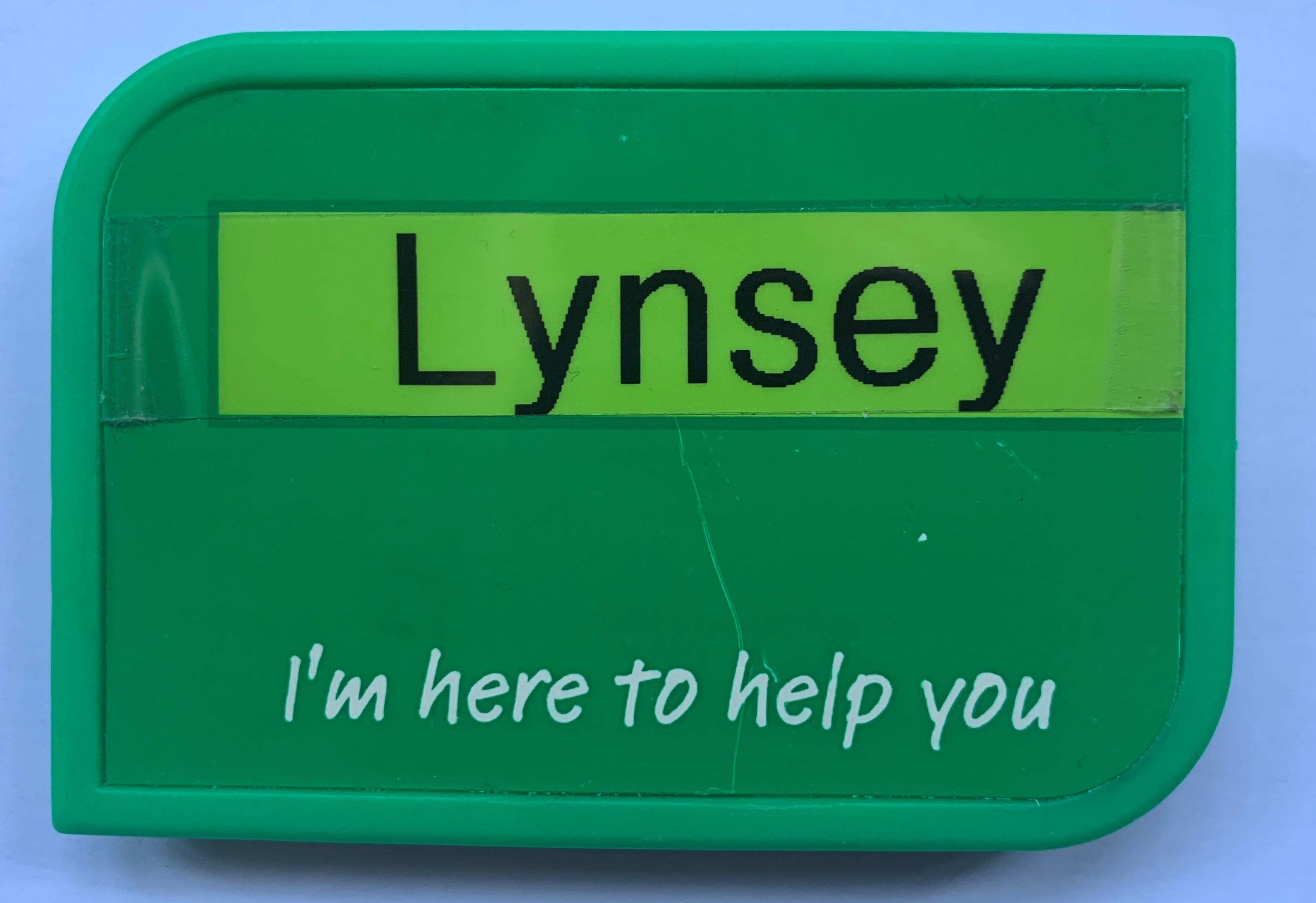Lynsey Badge