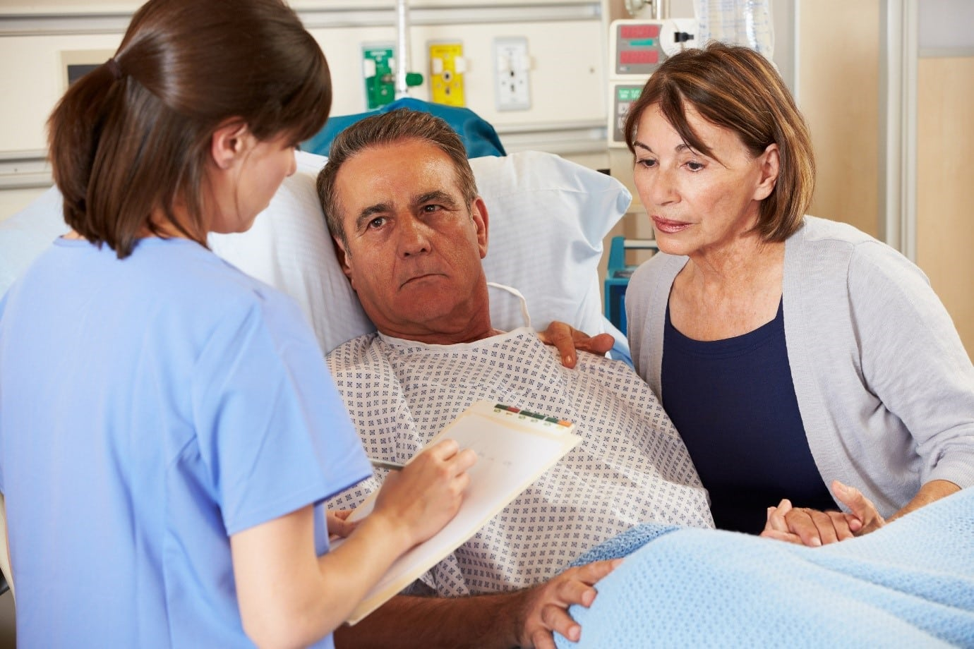 Health Professional Checks in on Patient
